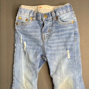 Toddler Boy Distressed Levi's 514 Jeans